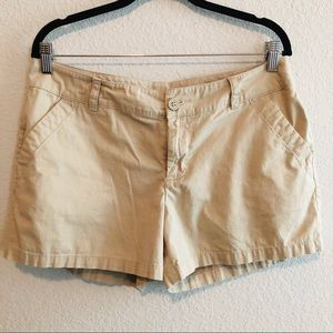 Columbia khaki shorts - size 12